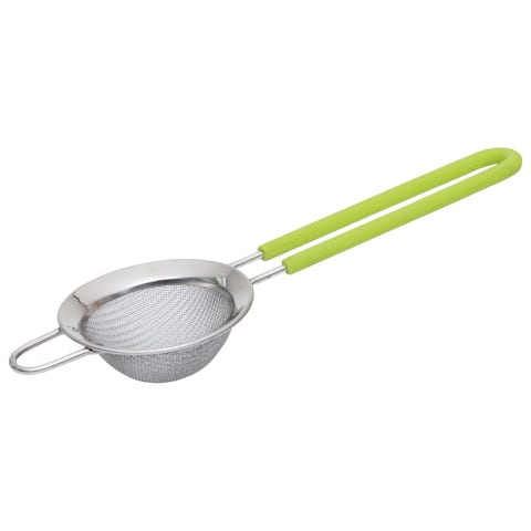 """CooknCo Strainer 2.75"""", Lime Handle"""