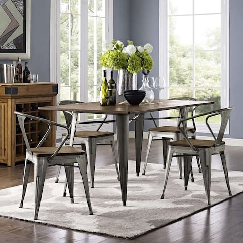 Modway Promenade Bamboo/Coated Steel Dining Chair (Set of 4)