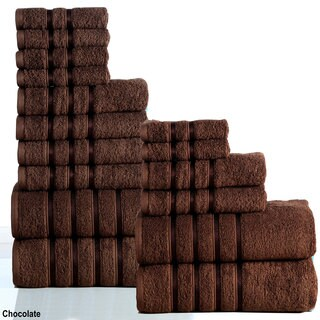 Panache Home Collection 100-percent Combed Cotton 550 GSM 16-piece Towel Set