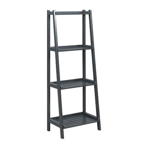 NewRidge Home Dunnsville Solid Wood 4-tier Ladder Shelf