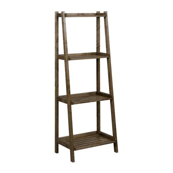 shop newridge home solid wood dunnsville 4 tier leaning ladder shelf rh overstock com