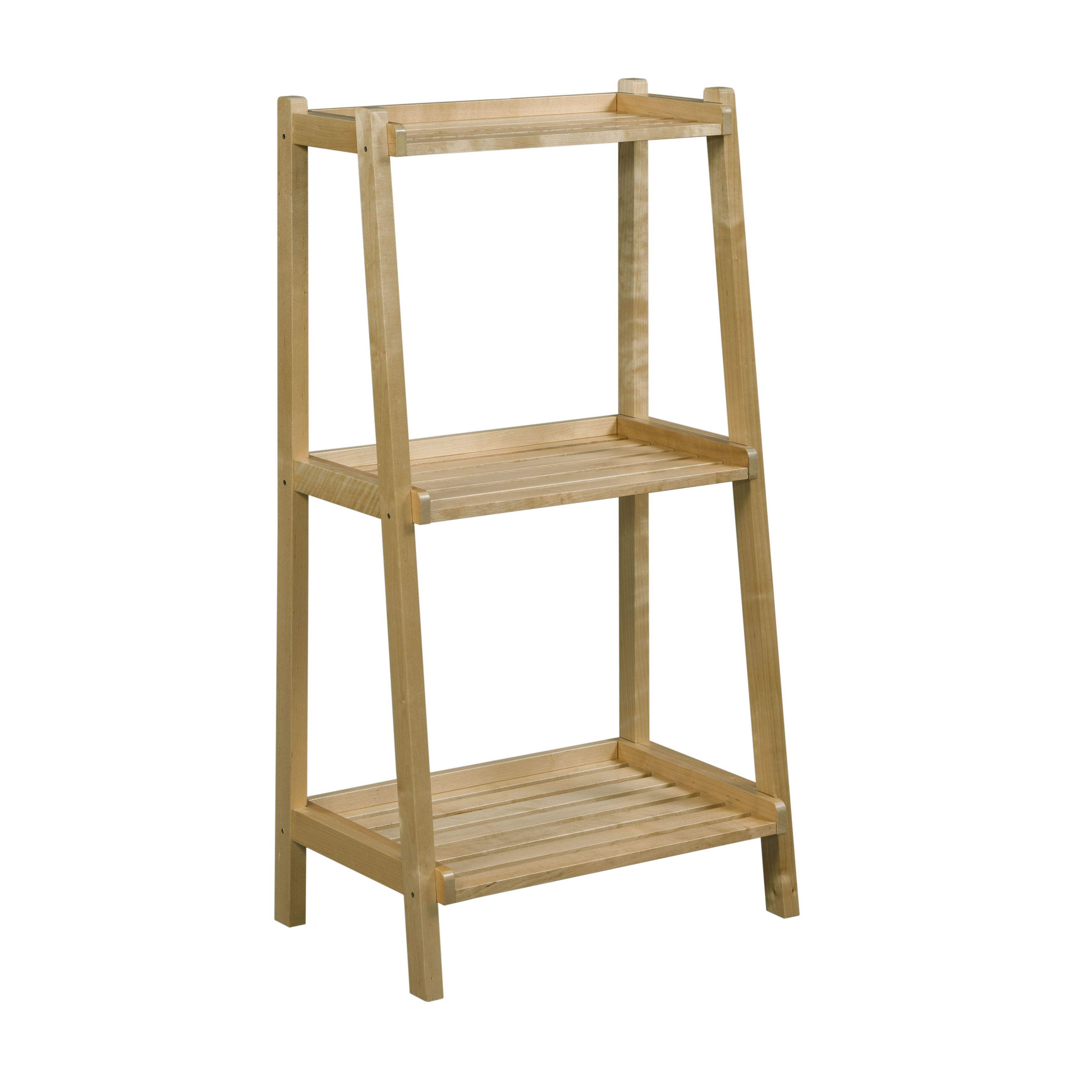 Newridge Home Solid Wood Dunnsville 3 Tier Ladder Shelf Bookcase