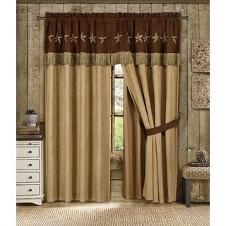 Star Laredo Winslow 4-piece Super Heavy Curtain Panel Set