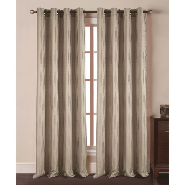 Rt Designers Collection Empire Jacquard Grommet Curtain Panel Free Shipping On Orders Over 45 Com 23073415