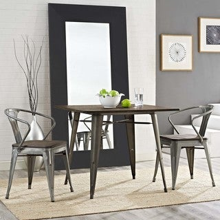 Modway Promenade Bamboo/Steel Dining Chair (Set of 2)