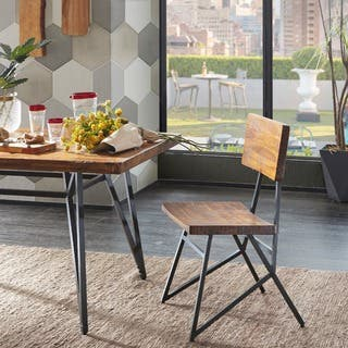 Ink Ivy Trestle Reclaimed Brown Gunmetal Dining Chair Set Of 2 20