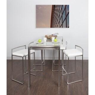 Fuji 5 Piece Contemporary Counter Height Dining Set