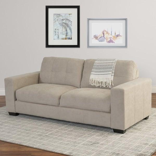Corliving Tufted Chenille Fabric Sofa