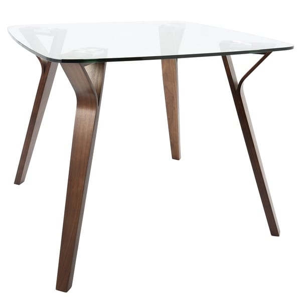 Shop Folia Mid-century Modern Square Dining Table - Free Shipping ...