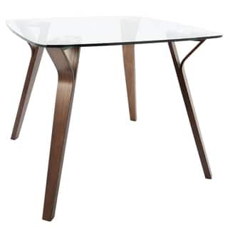 folia mid century modern square dining table - Square Dining Table
