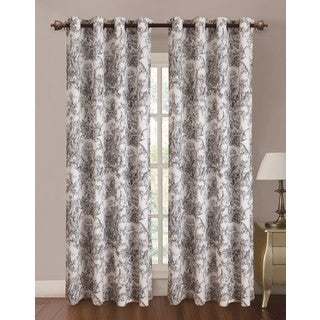 RT Designers Collection Toile Printed Canvas Grommet Curtain Panel