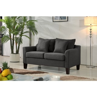 Julie Linen Fabric Upholstered Contemporary Loveseat