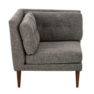 INK+IVY Auburn Grey Multi/ Pecan Corner Sectional Chair