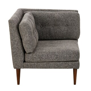 INK+IVY Auburn Grey Multi/ Pecan Corner Sectional Chair