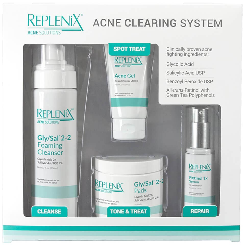 Topix Pharmaceuticals Replenix Acne 4-piece Clearing Syst...