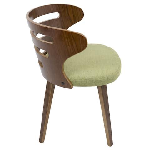 Carson Carrington Cranagh Walnut Wood Dining Accent Chair