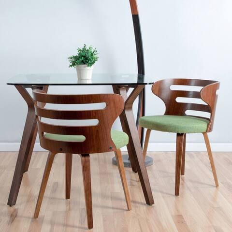 Carson Carrington Cranagh Walnut Wood Dining Accent Chair - N/A