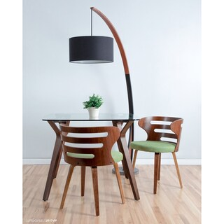 Cosi Mid-Century Modern Walnut Wood Dining Accent Chair (4 options available)