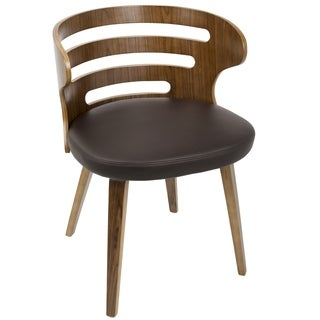 Cosi Mid-Century Modern Walnut Wood Dining Accent Chair