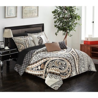 Link to Chic Home Giles Beige 10 Piece Bed in a Bag Comforter Set Similar Items in As Is