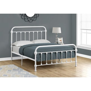 Monarch Full-size Bed with White Metal Frame