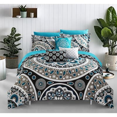 Chic Home Gaston 10-piece Bed-in-a-Bag Comforter Set