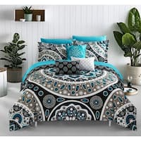 Chic Home Gaston Black 10 Piece Bed in a Bag Comforter Set