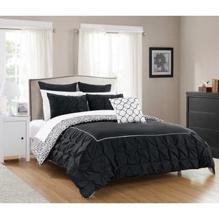 Chic Home Rajiv Black 10-piece Reversible Bed in a Bag Comforter Set