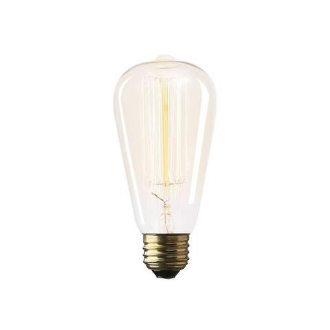 """Mercana Filament Teardrop E26 40W 5.5""""H Bulb - Clear - 2.5L x 2.5W x 5.3H"""