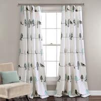 Lush Decor Rowley Birds Light Filtering Curtain Panel Pair - 84 Inches