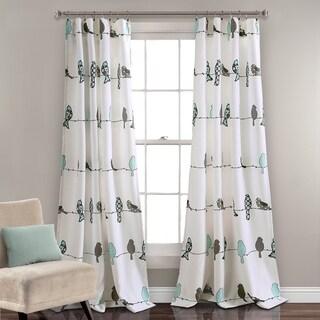 lush decor rowley birds room darkening window curtain panel pair