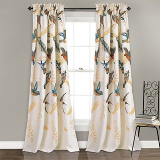 Lush Decor Bird Breeze Room-darkening Window Curtain Panel Pair