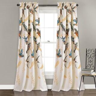 Lush Decor Bird Breeze Room-darkening Window Curtain Panel Pair
