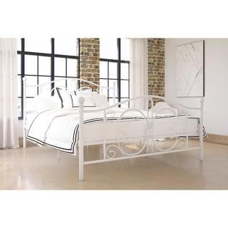 Laurel Creek Herman Metal Finial Queen Bed