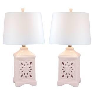 JT Lighting Kire Pink Ceramic/Fabric Table Lamp (Set of 2)|https://ak1.ostkcdn.com/images/products/16764641/P23073624.jpg?impolicy=medium