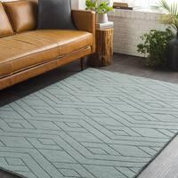 Trocadero Grey Hand-Loomed Wool Area Rug - 2' x 3'