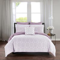 Chic Home Rajiv Lavender 10 Piece Bed in a Bag Reversible Comforter Set