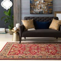 Colonial Home Red Traditional Oriental Handmade Area Rug - 2' x 3'