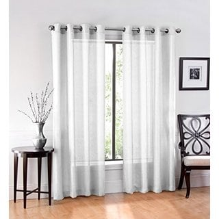 Ruthy's Textile Sheer Grommet Curtain Panel Pair