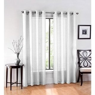 Ruthy's Textile Sheer Grommet Curtain Panel Pair. Opens flyout.