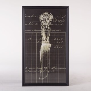 Illustrated Knife Print (42x67) with Black Frame by World Interiors
