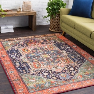 Haute Hali Multi Soft Vintage Floral Area Rug-2' x 3'