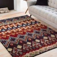 Lola Multicolored Tribal Bohemian Area Rug - 2' x 3'
