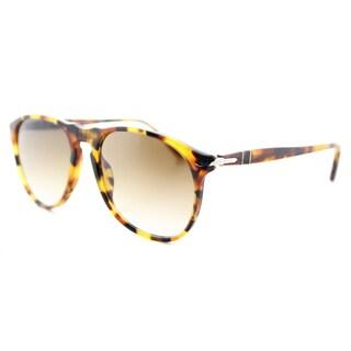 Persol PO 9649S 105251 Icons Madreterra Plastic Aviator Sunglasses Brown Gradient Lens