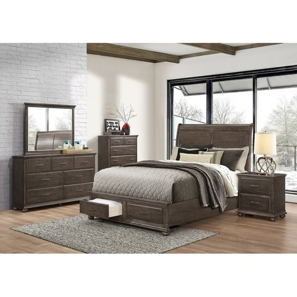 Simmons Casegoods Grayson Collection 5 Piece Bedroom Set Queen King