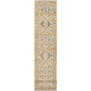 eCarpetGallery Royal Ushak Yellow Wool Hand-knotted Rug (2'9 x 13'11)