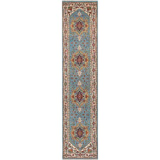 ecarpetgallery Hand-Knotted Serapi Heritage Blue Wool Rug (2'7 x 11'10)