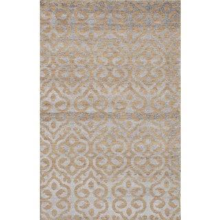 eCarpetGallery La Seda Ivory Wool and Art Silk Hand-knotted Rug (4'11 x 7'11)