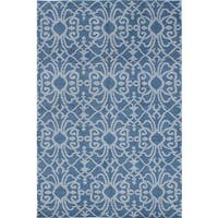 eCarpetGallery Eternity Blue Wool Hand-knotted Rug - 5'0 x 7'9