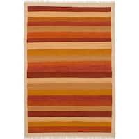 ecarpetgallery Flatweave Izmir Kilim Brown Wool Kilim Rug